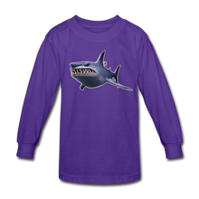 Load image into Gallery viewer, Loot Shark Fortnite Kid's Long Sleeve Video Game T-Shirt - dark purple
