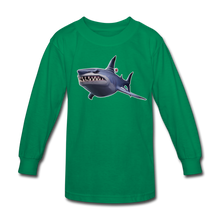 Load image into Gallery viewer, Loot Shark Fortnite Kid's Long Sleeve Video Game T-Shirt - kelly green