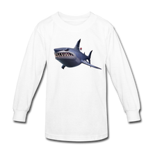 Load image into Gallery viewer, Loot Shark Fortnite Kid's Long Sleeve Video Game T-Shirt - white