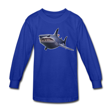 Load image into Gallery viewer, Loot Shark Fortnite Kid's Long Sleeve Video Game T-Shirt - royal blue