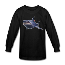 Load image into Gallery viewer, Loot Shark Fortnite Kid's Long Sleeve Video Game T-Shirt - black