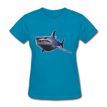 Load image into Gallery viewer, Loot Shark Fortnite Women's Video Game T-Shirt - turquoise
