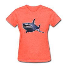 Load image into Gallery viewer, Loot Shark Fortnite Women's Video Game T-Shirt - heather coral
