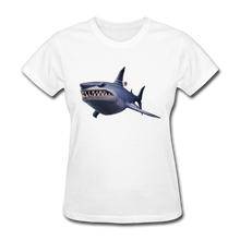 Load image into Gallery viewer, Loot Shark Fortnite Women's Video Game T-Shirt - white