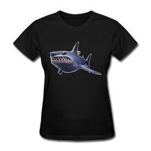 Load image into Gallery viewer, Loot Shark Fortnite Women's Video Game T-Shirt - black