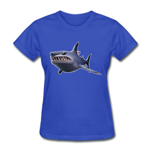 Load image into Gallery viewer, Loot Shark Fortnite Women's Video Game T-Shirt - royal blue