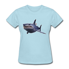 Load image into Gallery viewer, Loot Shark Fortnite Women's Video Game T-Shirt - powder blue