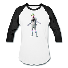 Load image into Gallery viewer, Marshmello Unisex Baseball Fortnite Video Game T-Shirt - white/black