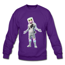 Load image into Gallery viewer, Marshmello Unisex Crewneck Fortnite Video Game Sweatshirt - purple
