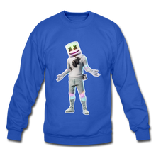 Load image into Gallery viewer, Marshmello Unisex Crewneck Fortnite Video Game Sweatshirt - royal blue
