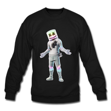 Load image into Gallery viewer, Marshmello Unisex Crewneck Fortnite Video Game Sweatshirt - black