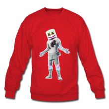 Load image into Gallery viewer, Marshmello Unisex Crewneck Fortnite Video Game Sweatshirt - red
