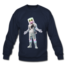 Load image into Gallery viewer, Marshmello Unisex Crewneck Fortnite Video Game Sweatshirt - navy