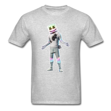 Load image into Gallery viewer, Marshmello Unisex Heather Fortnite Video Game T-Shirt - heather gray