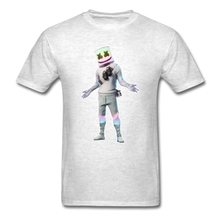 Load image into Gallery viewer, Marshmello Unisex Heather Fortnite Video Game T-Shirt - light heather gray