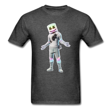 Load image into Gallery viewer, Marshmello Unisex Heather Fortnite Video Game T-Shirt - heather black