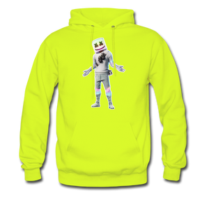 Marshmello Unisex Hoodie Fortnite Video Game Sweatshirt - safety green