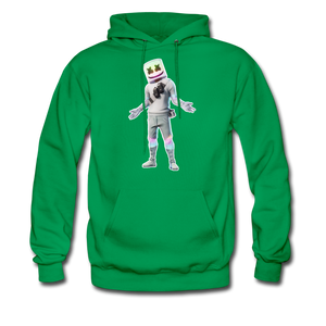 Marshmello Unisex Hoodie Fortnite Video Game Sweatshirt - kelly green