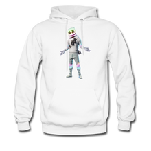 Load image into Gallery viewer, Marshmello Unisex Hoodie Fortnite Video Game Sweatshirt - white