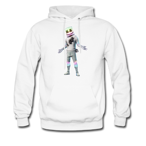 Marshmello Unisex Hoodie Fortnite Video Game Sweatshirt - white