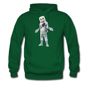 Marshmello Unisex Hoodie Fortnite Video Game Sweatshirt - forest green