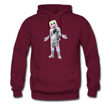 Load image into Gallery viewer, Marshmello Unisex Hoodie Fortnite Video Game Sweatshirt - burgundy