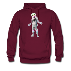 Marshmello Unisex Hoodie Fortnite Video Game Sweatshirt - burgundy