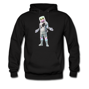 Marshmello Unisex Hoodie Fortnite Video Game Sweatshirt - black