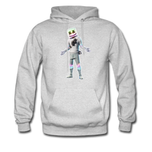 Load image into Gallery viewer, Marshmello Unisex Hoodie Fortnite Video Game Sweatshirt - ash
