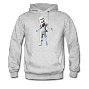 Marshmello Unisex Hoodie Fortnite Video Game Sweatshirt - ash