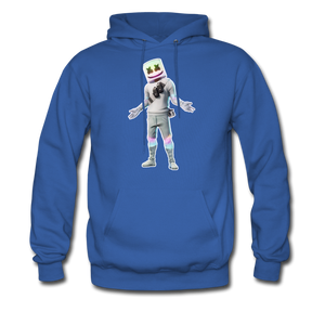 Marshmello Unisex Hoodie Fortnite Video Game Sweatshirt - royal blue