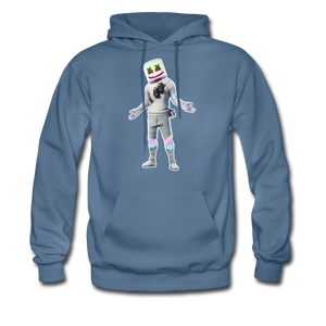 Marshmello Unisex Hoodie Fortnite Video Game Sweatshirt - denim blue