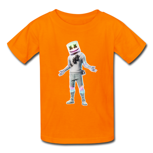 Marshmello Kids' Fortnite Video Game T-Shirt - orange