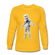 Load image into Gallery viewer, Marshmello Long Sleeve Fortnite Video Game T-Shirt - gold