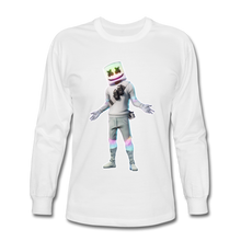 Load image into Gallery viewer, Marshmello Long Sleeve Fortnite Video Game T-Shirt - white