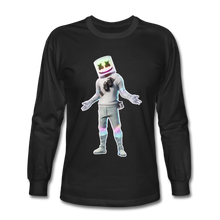 Load image into Gallery viewer, Marshmello Long Sleeve Fortnite Video Game T-Shirt - black