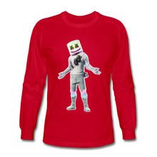 Load image into Gallery viewer, Marshmello Long Sleeve Fortnite Video Game T-Shirt - red