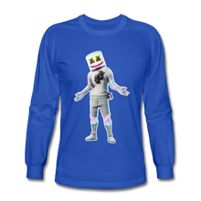 Load image into Gallery viewer, Marshmello Long Sleeve Fortnite Video Game T-Shirt - royal blue