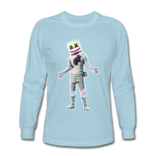 Load image into Gallery viewer, Marshmello Long Sleeve Fortnite Video Game T-Shirt - powder blue