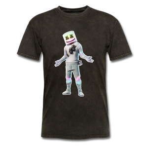 Marshmello Unisex Mineral Fortnite Video Game T-Shirt - mineral black