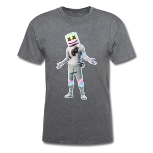 Marshmello Unisex Mineral Fortnite Video Game T-Shirt - mineral charcoal gray