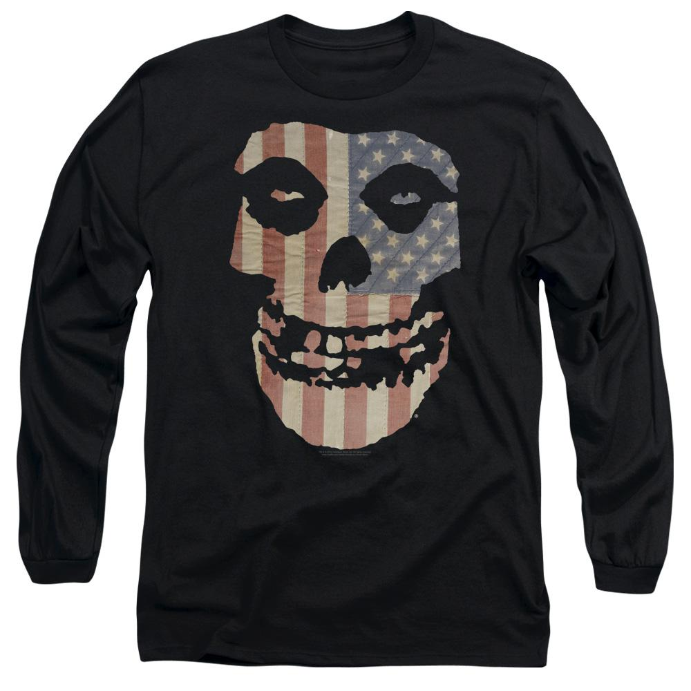Misfits Fiend American Flag Long Sleeve Band T-Shirt