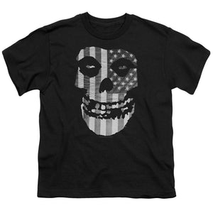 Misfits Fiend BW Flag Teen Band T-Shirt