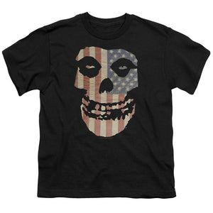 Misfits Fiend American Flag Teen Band T-Shirt