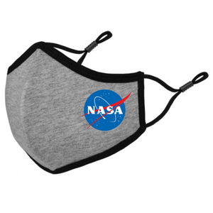 NASA Insignia Meatball Logo Triple-Layer Fabric Face Mask-Graphic Tees Store