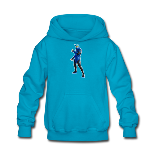 Ninja Fortnite Kid's Hoodie Video Game Sweatshirt - turquoise