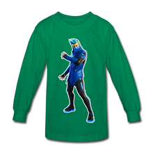 Load image into Gallery viewer, Ninja Fortnite Kid's Long Sleeve Video Game T-Shirt - kelly green