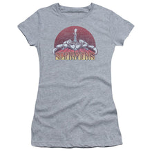 Load image into Gallery viewer, Scorpions Color Logo Distressed Junior Girls Sheer Band T-Shirt