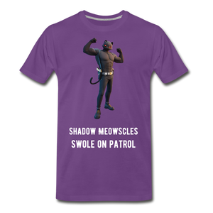 Shadow Meowscles Purple Tee - purple