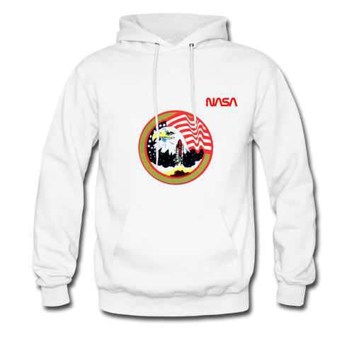 NASA Eagle's Take Off Hoodie - white